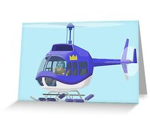 Big City Vehicles - Lion Pilot Flying Helicopter  Greeting Card