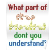 What Part of Sign Language Don't You Understand Poster