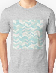 modern,chevron,zig zag,pins,pattern,trendy,pastel colors,teal,pink,cream,mint,green Unisex T-Shirt