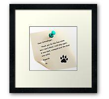 Schrodinger's cat note Framed Print