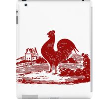 Red Rooster in Farmyard iPad Case/Skin