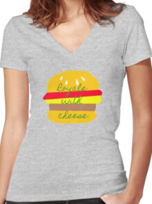 Royale With Cheese - Pulp Fiction Women's Fitted V-Neck T-Shirt