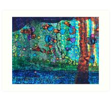 SWIMMING with GUPPIES Art Print