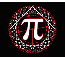 Pi  Sign Drawing White Photographic Print