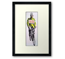 Will work for food! Framed Print