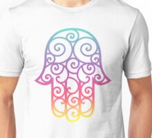 Colorful spiral Hamsa Unisex T-Shirt