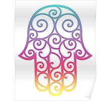 Colorful spiral Hamsa Poster