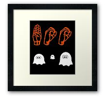 Halloween Boo - American Sign Language Framed Print