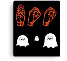 Halloween Boo - American Sign Language Canvas Print