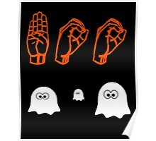 Halloween Boo - American Sign Language Poster