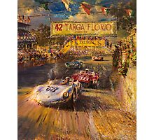 Car racing vintage cars Photographic Print