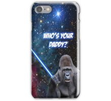 gorilla is your father iPhone Case/Skin