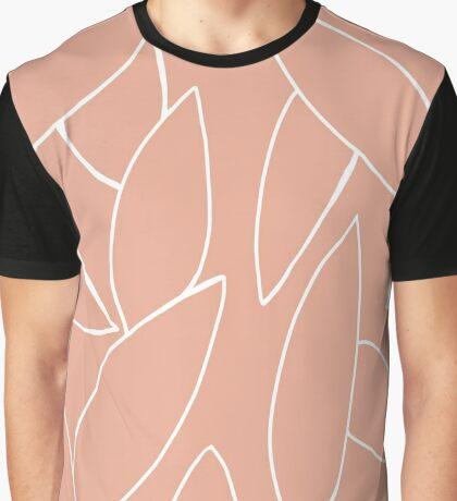 Minimal Botanical in Peach Graphic T-Shirt