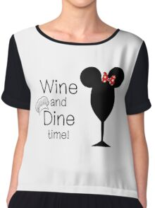 Food and Wine Festival Time Chiffon Top