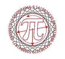 Pi  Sign Drawing Photographic Print