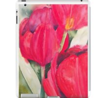 Red Tulips iPad Case/Skin