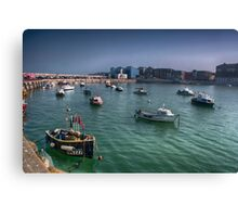 Margate Harbour From The Harbour Arm Canvas Print