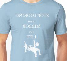 Mirror Chest Press - White Unisex T-Shirt