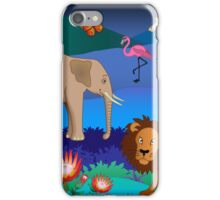 African animals scene iPhone Case/Skin