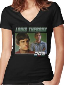 Louis Theroux 90s Green Women's Fitted V-Neck T-Shirt