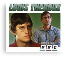 Louis Theroux 90s Green Canvas Print