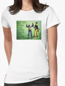 Ronnie catches Marvin smuggling hot dogs on his turf! Womens Fitted T-Shirt