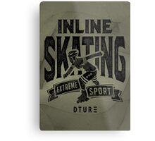 Inline Skating Metal Print