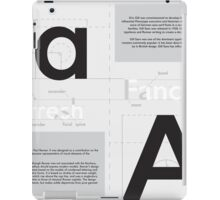 Futura x Gill Sans iPad Case/Skin