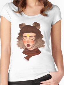 Autumn girl Women's Fitted Scoop T-Shirt