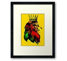 Rasta Lion. Framed Print