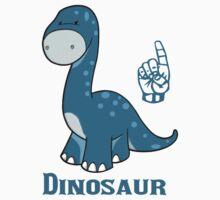 D is for Dinosaur - ASL One Piece - Short Sleeve