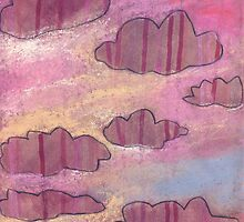 Pink stripy clouds ruled the evening skies. by Tine  Wiggens