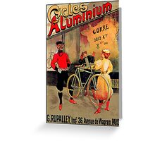 ALUMINIUM CYCLES; Vintage Bicycle Advertising Print Greeting Card