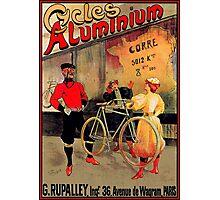 ALUMINIUM CYCLES; Vintage Bicycle Advertising Print Photographic Print