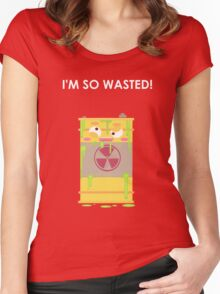 So WASTED man! Women's Fitted Scoop T-Shirt