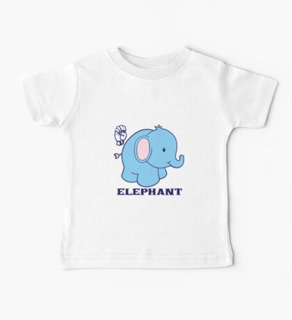 E is for Elephant - ASL Baby Tee