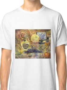 Surrealistic composition with monitor and speakers. Classic T-Shirt