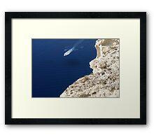 Boating Near Santorini Framed Print