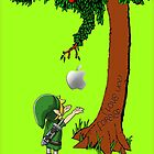 Cute Young Link Zelda With An Apple tree by Dadang Lugu Mara Perdana