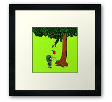 Cute Young Link Zelda With An Apple tree Framed Print