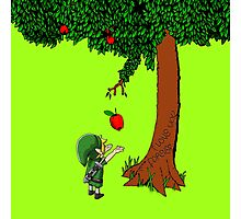 Cute Young Link Zelda With An Apple tree Photographic Print