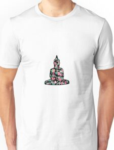 Meditating Buddha Flowers Unisex T-Shirt