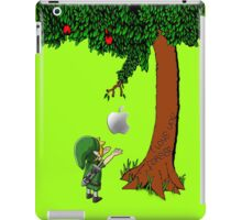 Cute Young Link Zelda With An Apple tree iPad Case/Skin