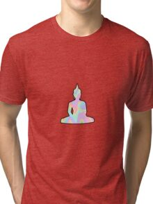 Meditating Buddha Cute Trippy Tri-blend T-Shirt