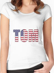 Tom (USA) Women's Fitted Scoop T-Shirt