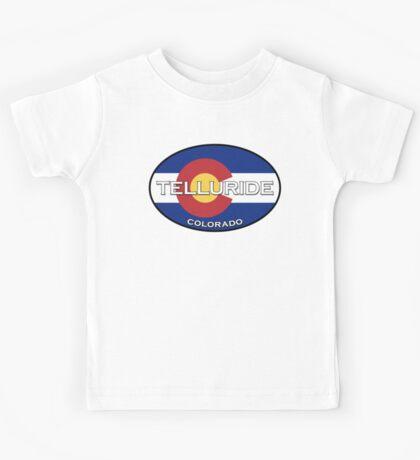 Telluride Colorado!  State flag design! Kids Tee