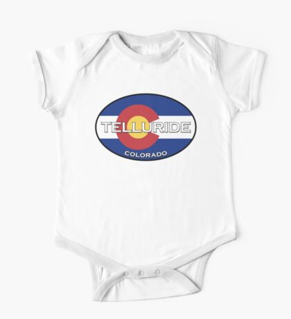 Telluride Colorado!  State flag design! One Piece - Short Sleeve