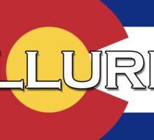 Telluride Colorado!  State flag design! Sticker