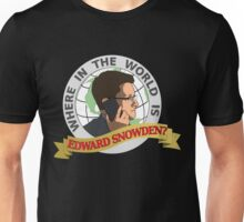 Where in the World is Edward Snowden? Unisex T-Shirt
