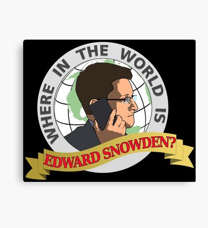 Where in the World is Edward Snowden? Canvas Print